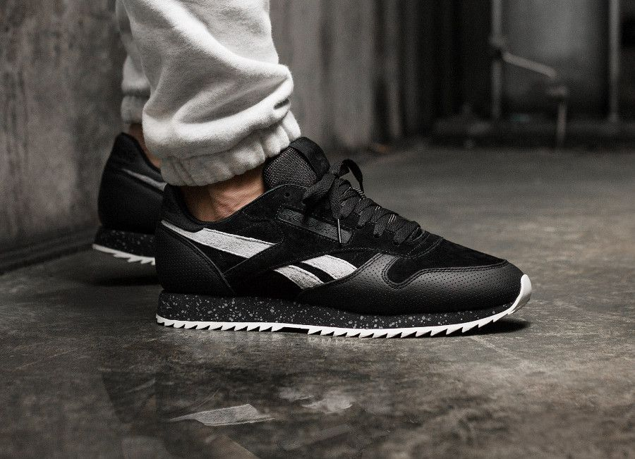 5c742fdf62ae Notre avis sur la Reebok Classic Leather Ripple Speckle Midsole 'Black Cool  Shadow',
