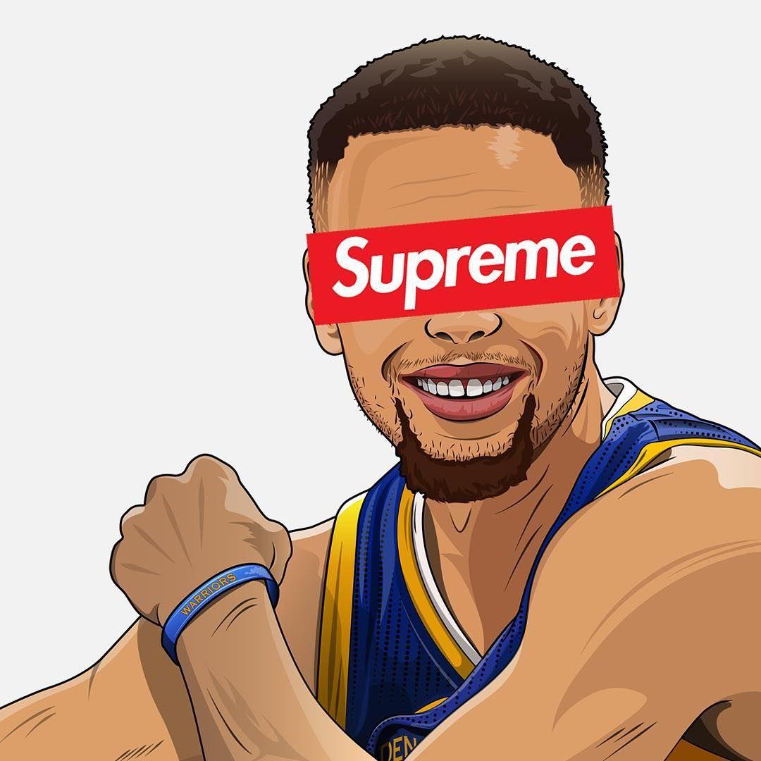 Waiting For That Supreme X Nba Drop Nba Wallpapers Chris Brown Art Supreme Wallpaper