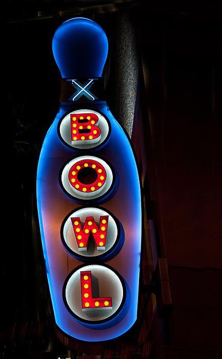 Bowling Pin Sign By Matthew Bamberg In 2020 Bowling Bowling Pins Neon Art