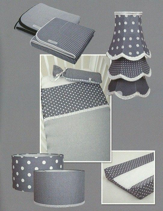 aapje4kids - grijs met witte stippen - babykamer accessoires, Deco ideeën