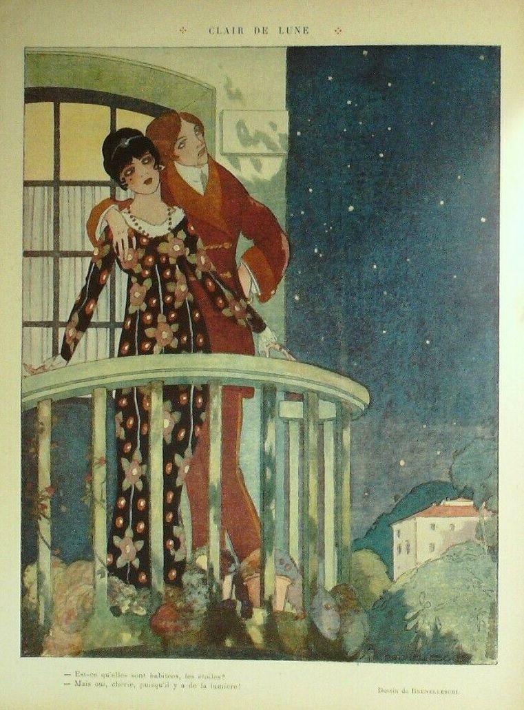 Umberto Brunelleschi 1879 1949 Clair De Lune Le Rire 1 Fevrier 1913 Pinned 6 Xi 2019