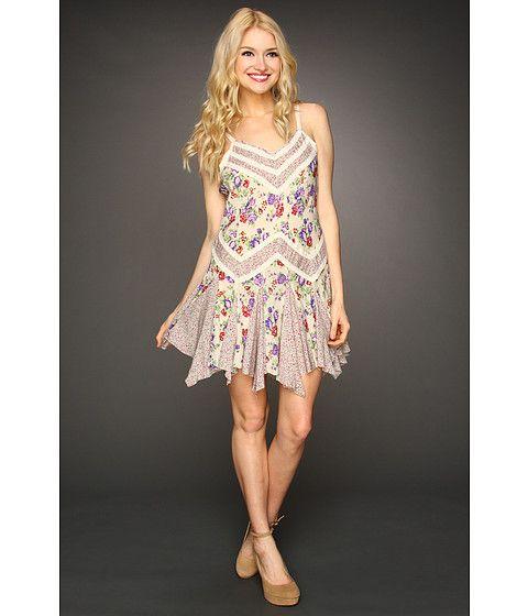 4f52804394 Free People Mixed Printed Godet Slip Dress | Dresses | Dresses, Free ...