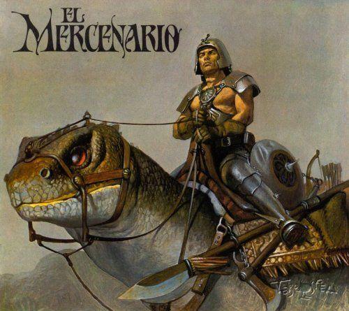 Vicente segrelles 1940 Barcelona Su obra mas conocida es El Mercenario del que existen 13volumenes editados entre 1980 y 1991. Su técnica era óleo hiperrealista por eso era tan lento en sus ediciones.