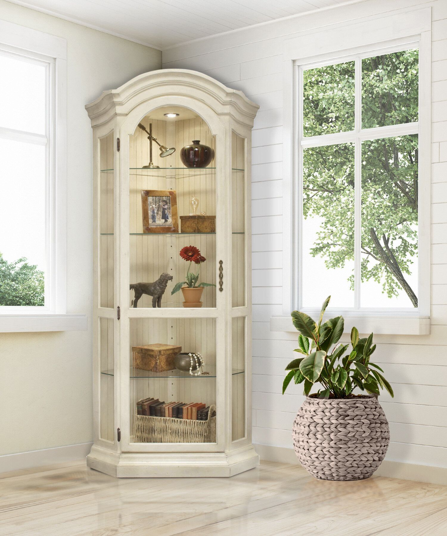 16+ White display cabinet with glass doors information