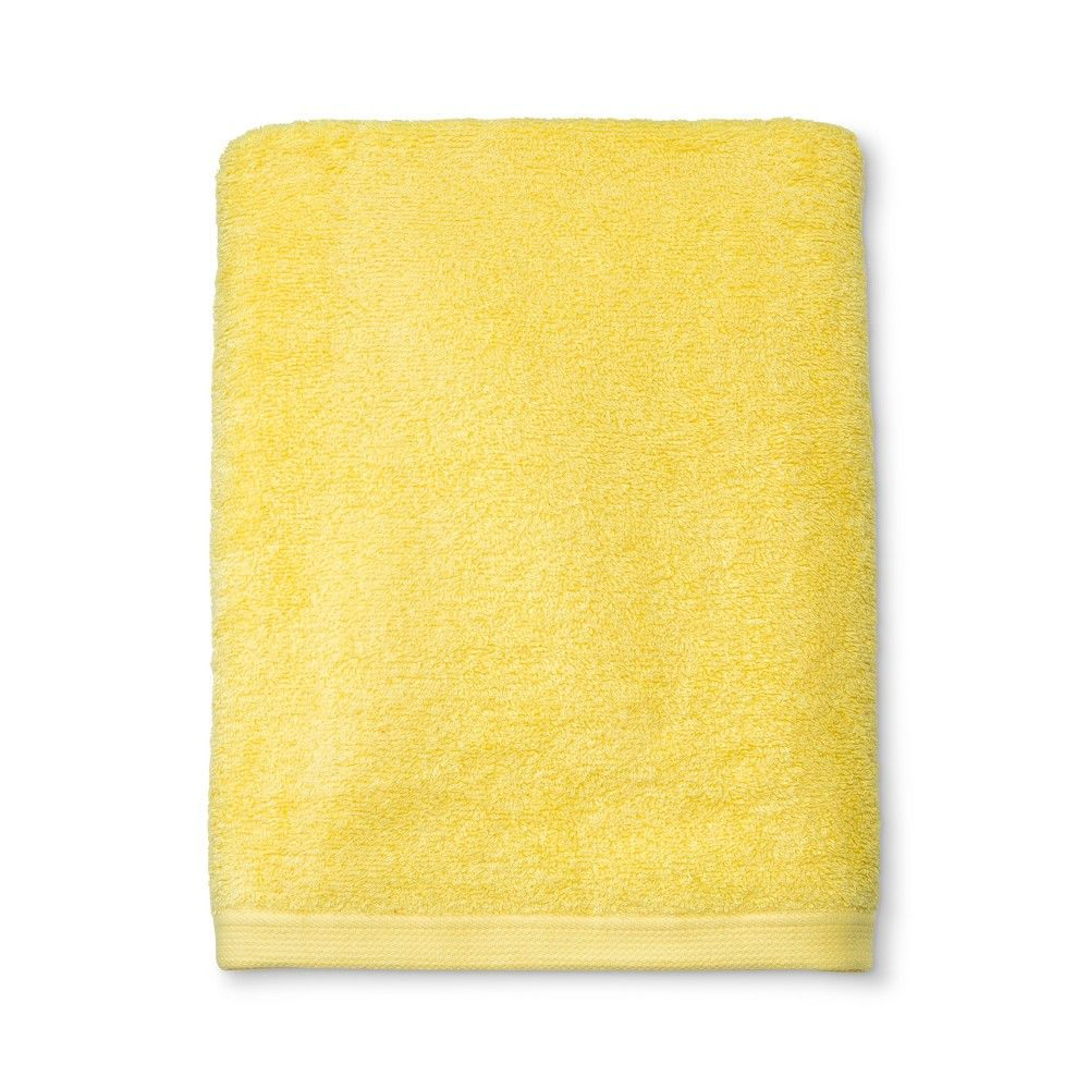 Everyday Solid Bath Towel Yellow Room Essentials Room