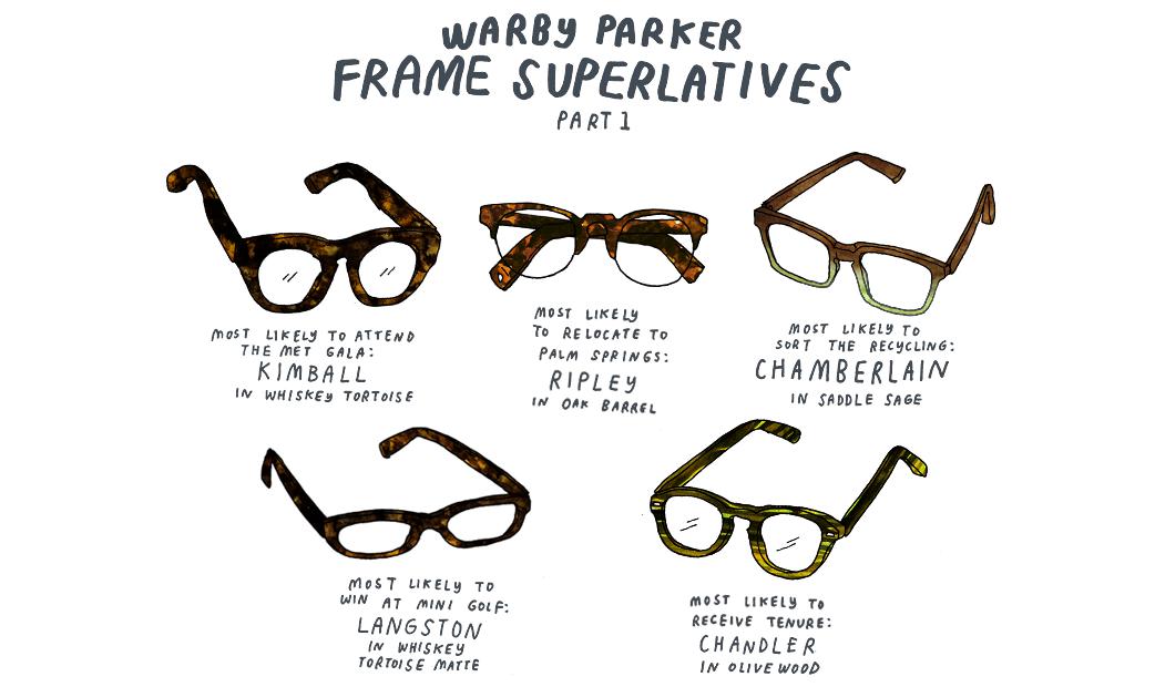 Warby Parker Frame Superlatives Part 1 Warby Parker Warby Parker Warby Parker