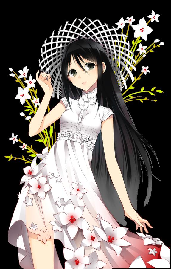 Resultado de imagem para imagem menina anime de cabelo preto