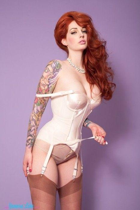 lake tattoo vanessa model Redhead