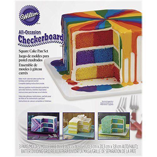 Wilton 2105 5745 Square Checkerboard Cake Pan Set