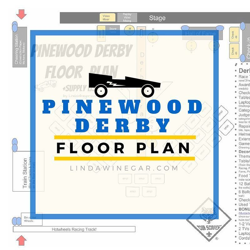 Cubscout Pinewood Derby Floor Plans! #Free #PDF #LinkInBio It\'s all ...