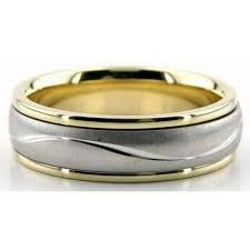 two tone wedding rings with diamonds - Google Search