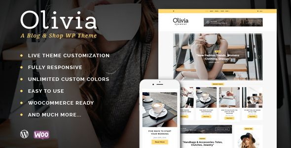 Olivia - Personal Blog & Shop WordPress Theme . All images are only ...