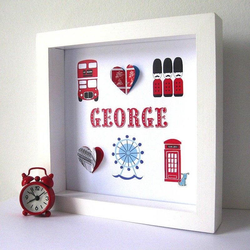 Quirky Baby Gift Ideas : Personalised london boy art work for boys children s