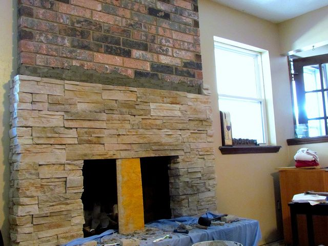 Making a Great Room- Resurfacing the Fireplace Part 2 | Fireplace parts, Fireplace, Great rooms