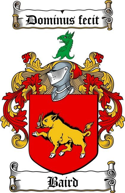 baird family crest baird coat of arms coat of arms / family