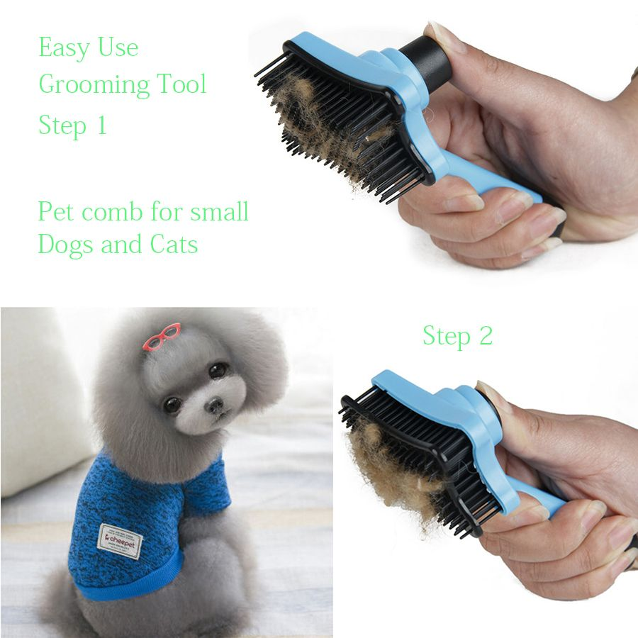 Dog Brush Comb High Quality Pet Grooming Tool for Small Medium Large Dogs + Cats with Short to Long Hair Reduces Shedding 25