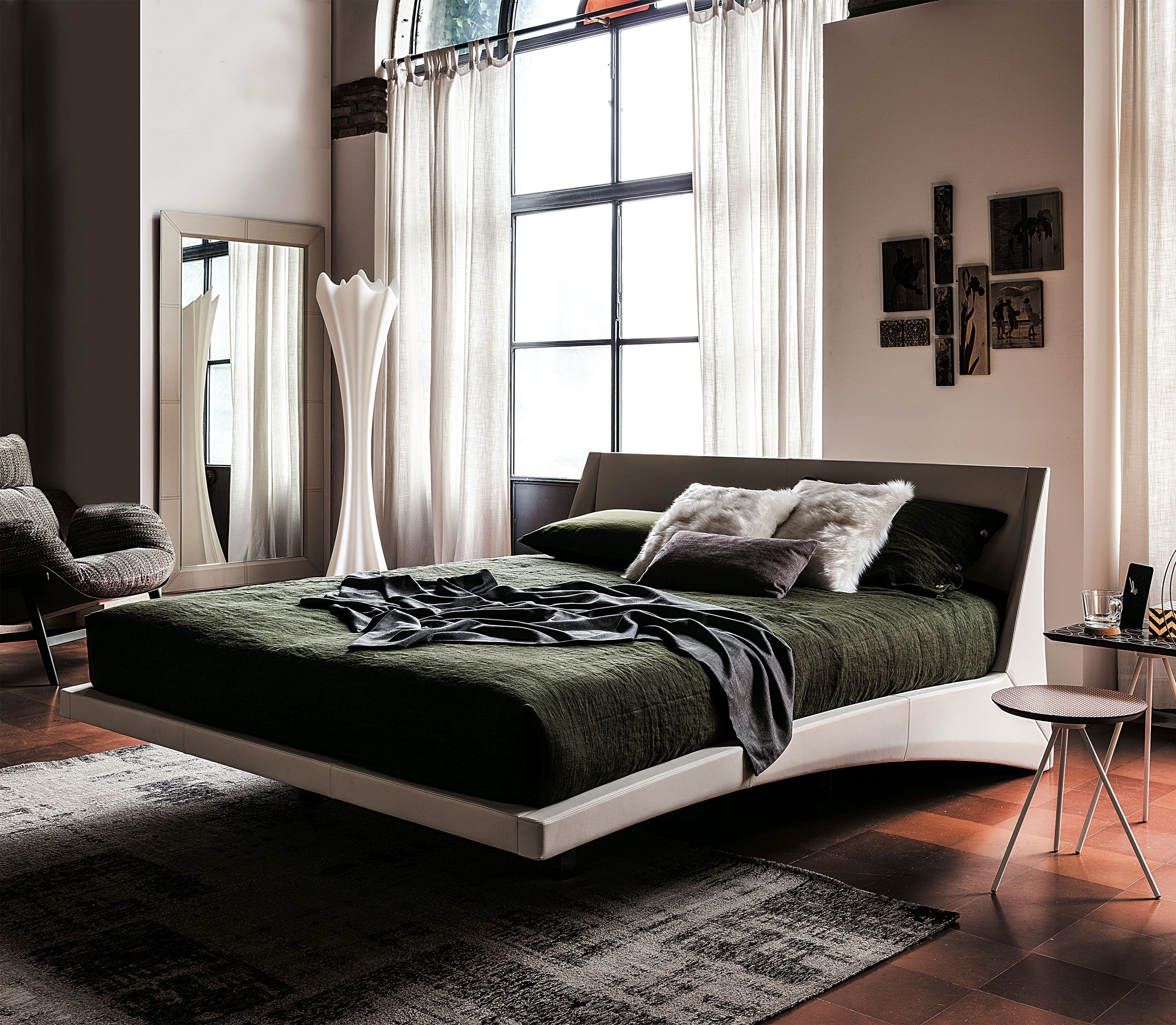 Cattelan Italia Dylan Bed   Leather   Bedroom Furniture ...