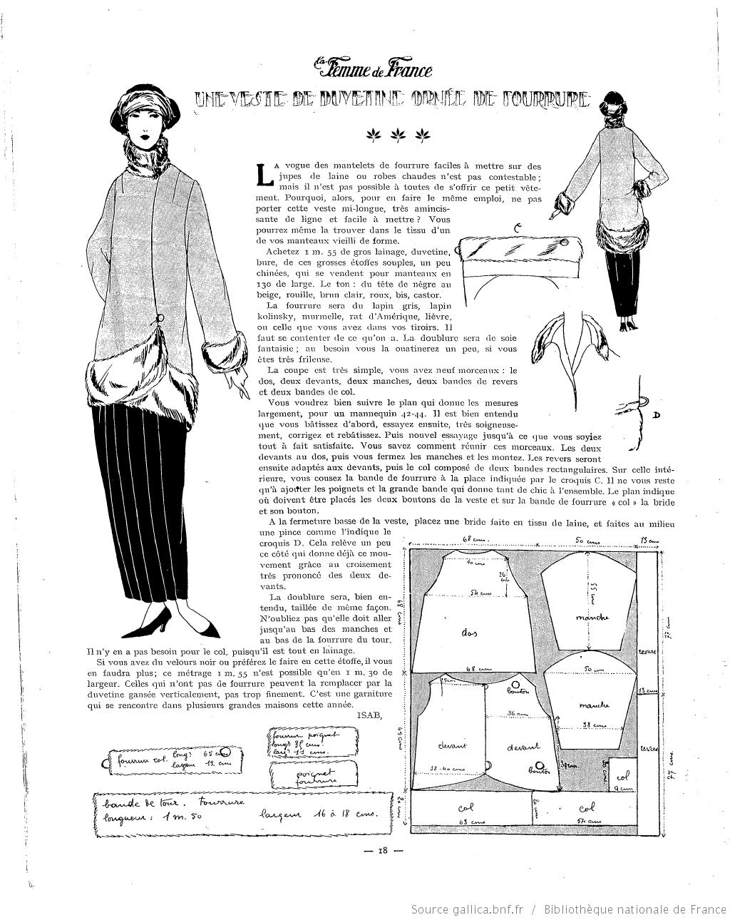Les Modes de la femme de France 1922/11 | En 1920 & 1930 | Pinterest ...