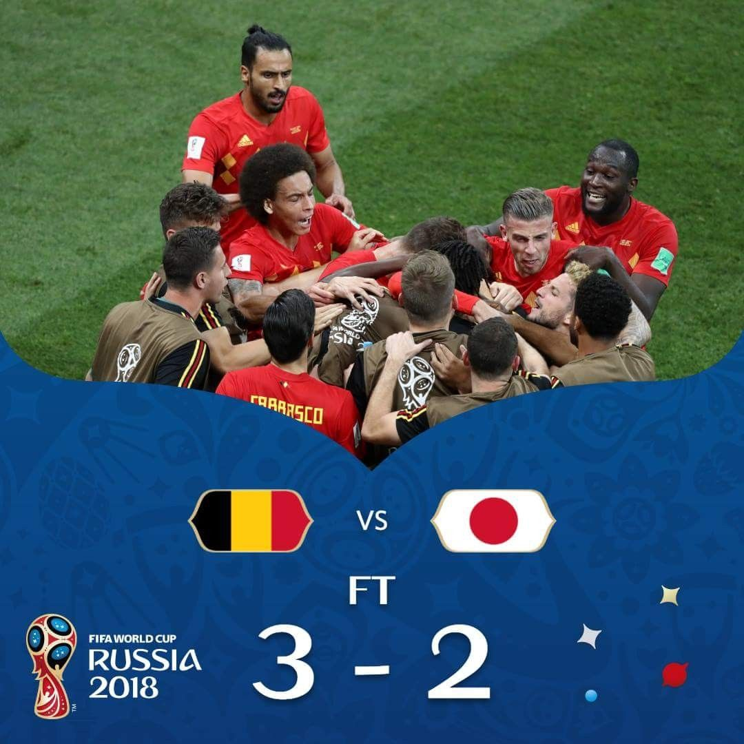 Heartbreak For Japan Last Minute Winner For Belgium World Cup Russia 2018 World Cup 2018 World Cup