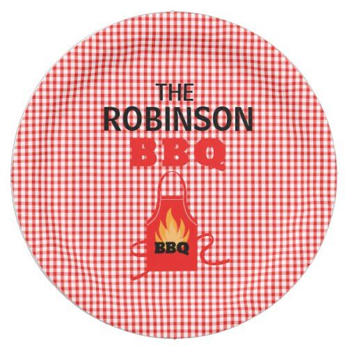Personalized Grill Apron BBQ Paper Plates  sc 1 st  Pinterest & Personalized Grill Apron BBQ Paper Plates | Party Paper Plates ...