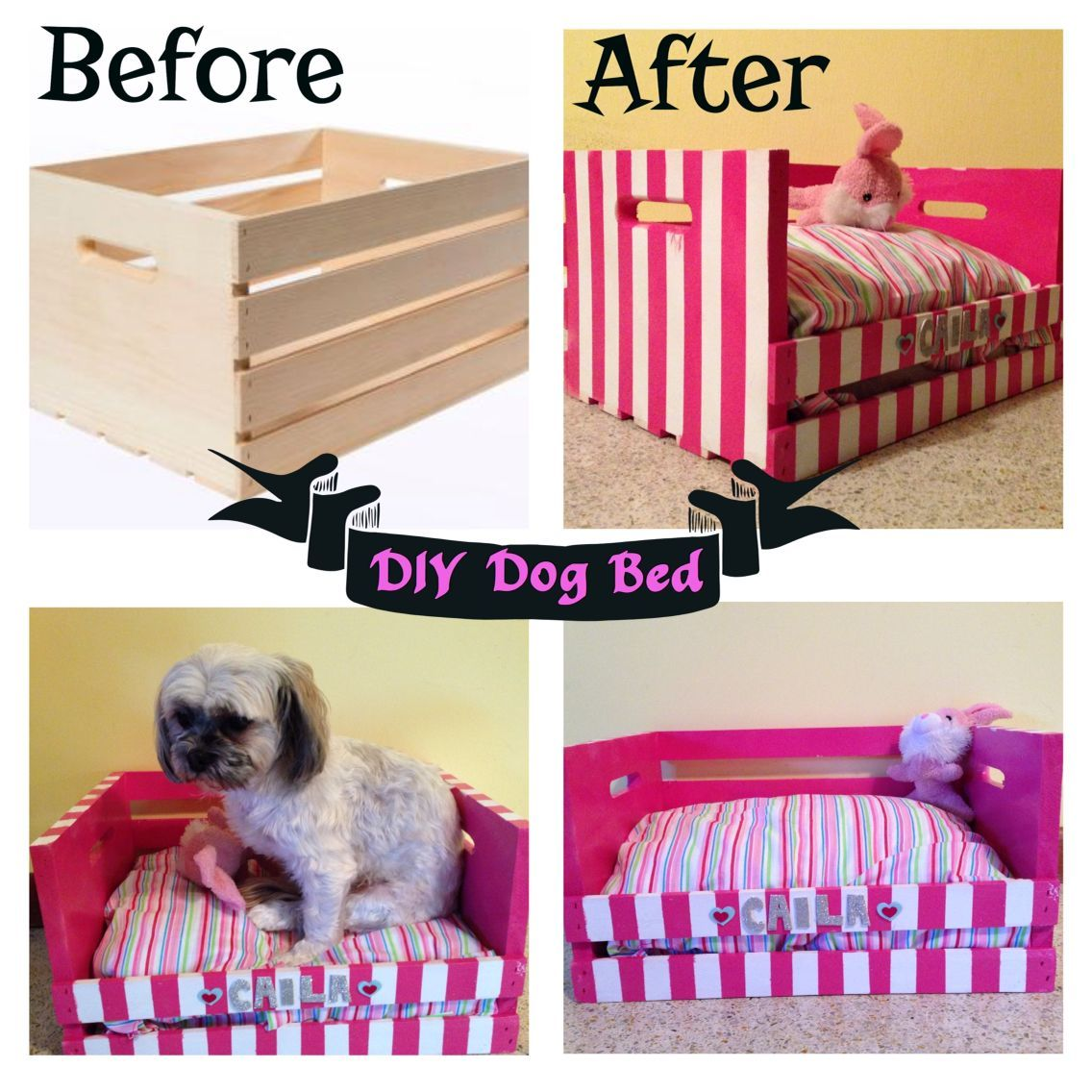 Created a Dog bed for my Shih Tzu/Poodle. Made from a
