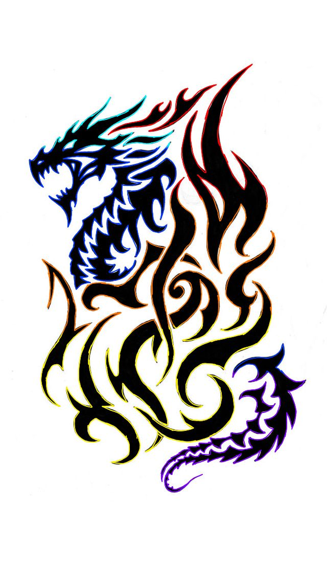 Cool Dragon Tattoo Celtic Dragon Tattoos Dragon Tattoos For Men Tribal Dragon Tattoos