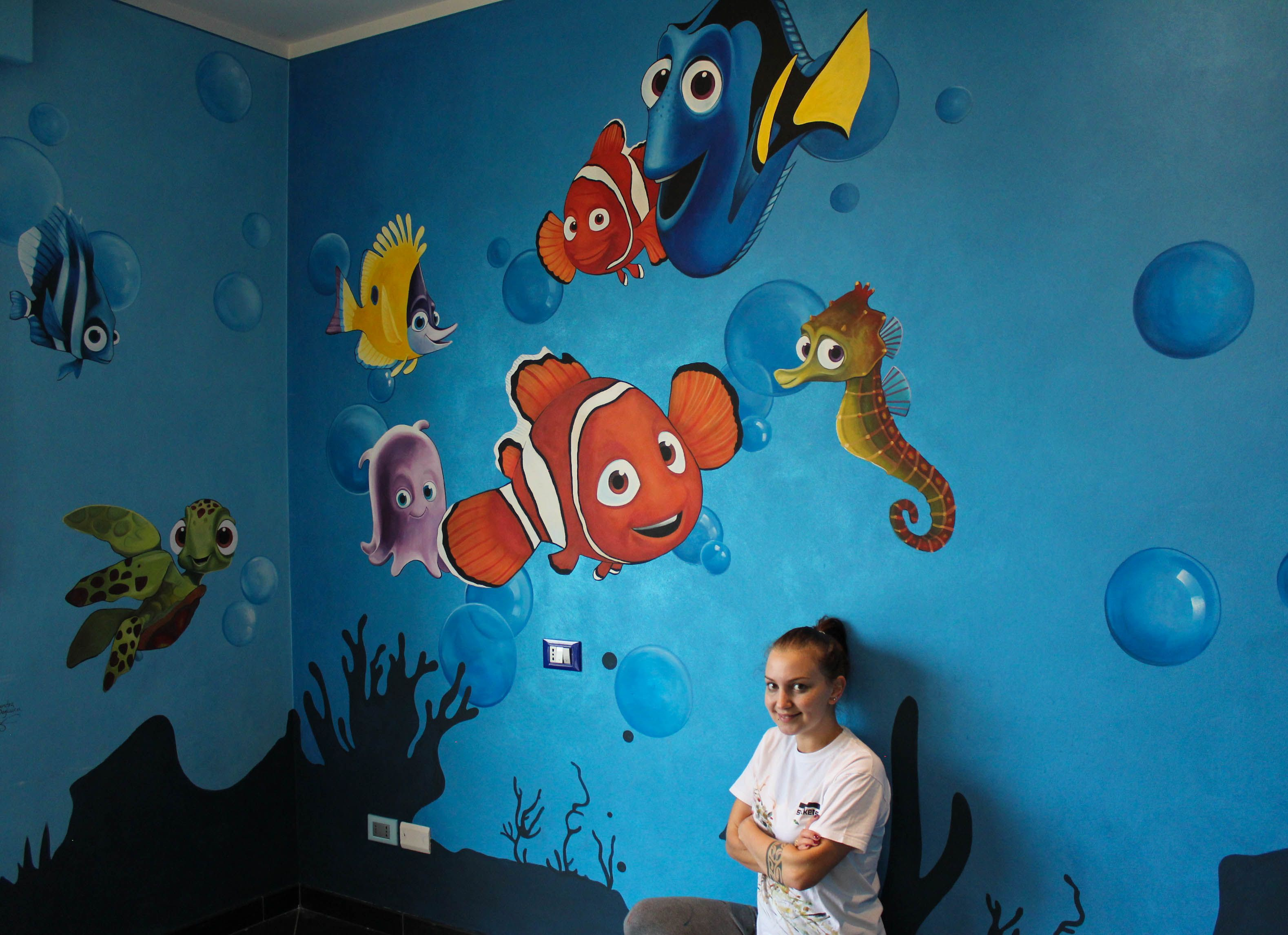 Finding Nemo Wall Painting #Nemo #Disney Part 83