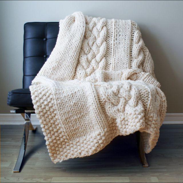 Chunky Knit Blanket Food Pinterest Blanket Knit Crochet And