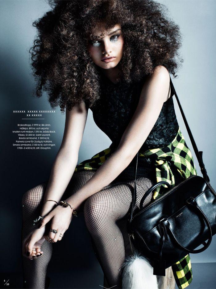 'Modern Grunge' by Eric Broms for Elle Sweden (Fall '13) // model: signe belfiore -  stylist: jenny fredriksson