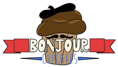 clumsy pickle: Blog Headers Bonjour Cupcakes