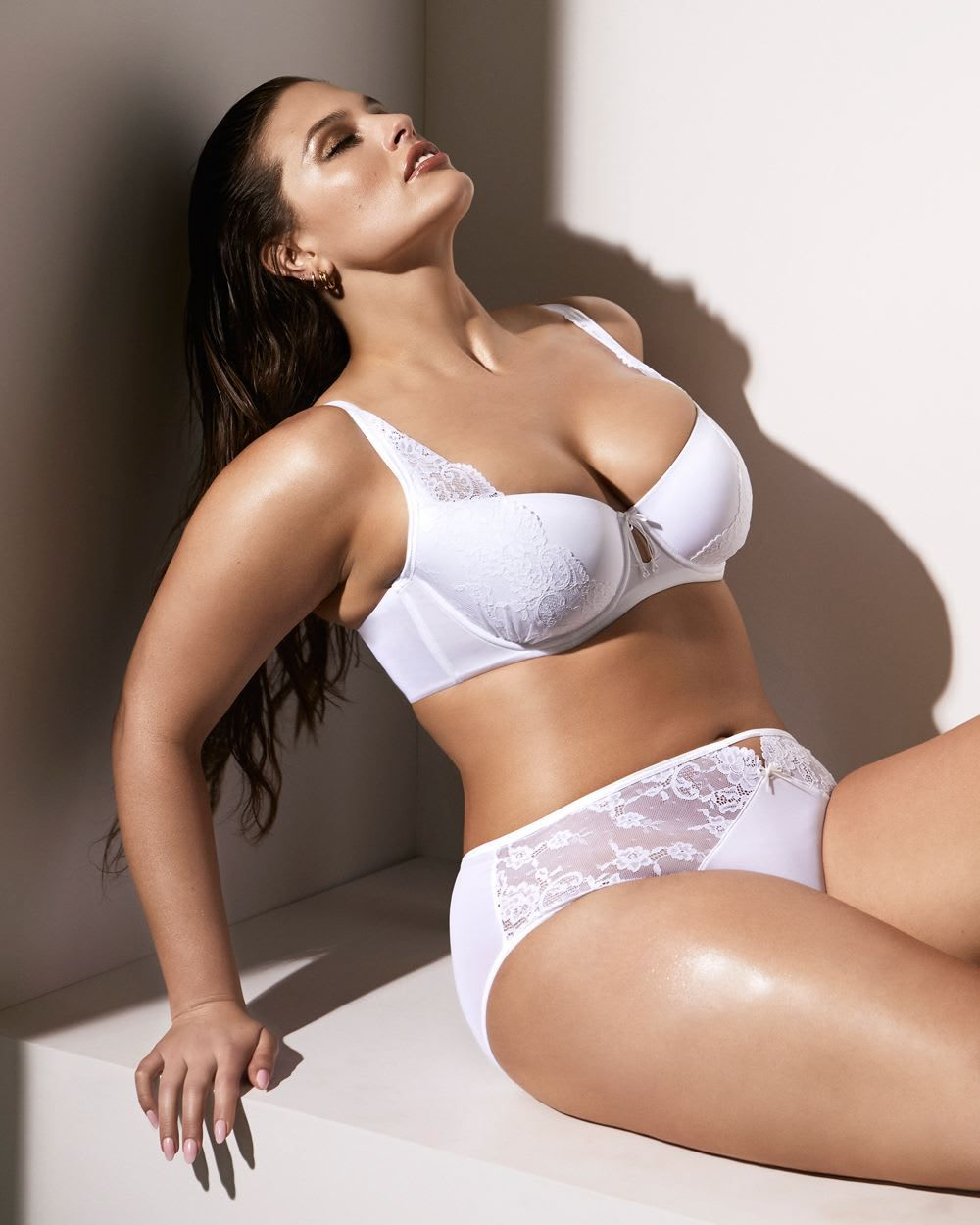 0d062c3da0e Ashley Graham High Cut Panty with Lace   Mesh Sexy Lingerie