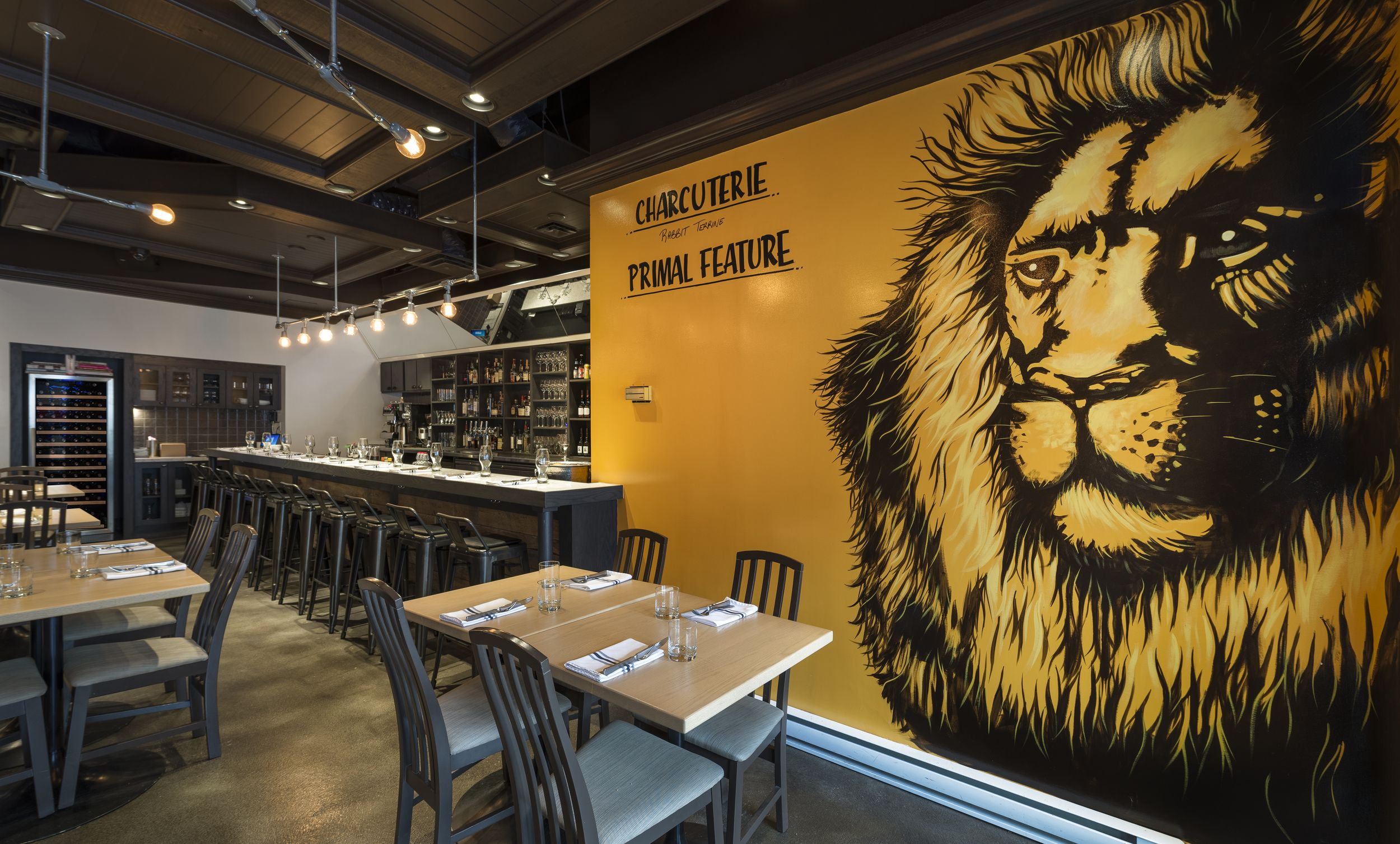 Primal Kitchen Restaurant With Stunning Lion Mural By And