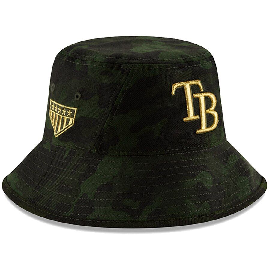 71bd8640c Tampa Bay Rays New Era 2019 MLB Armed Forces Day Bucket Hat - Camo ...
