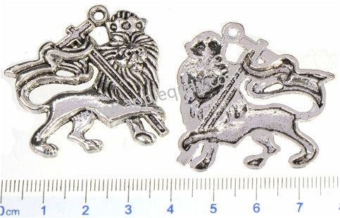 Zinc Alloy Animal Pendants,Lion,Plated,Cadmium And Lead Free,Various Color For Choice,Approx 43*38*3mm,Hole:Approx 2mm,Sold By Bags,No 001273