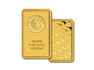 Perth Mint 10 Gram Gold Bar Mint Gold Gold Bullion Bars Gold Bullion