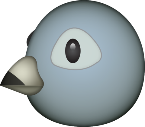 Grey Bird Emoji Emoji Emoji Images Bird