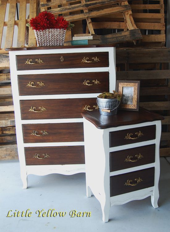 Two Toned Dresser. Rich color, antique, classic style ...