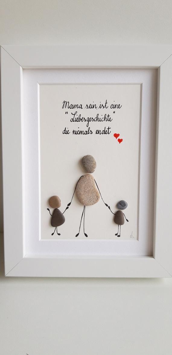 Muttertagsgeschenk, Muttertag, beste Mama, Steinbild #presentsforboyfriend
