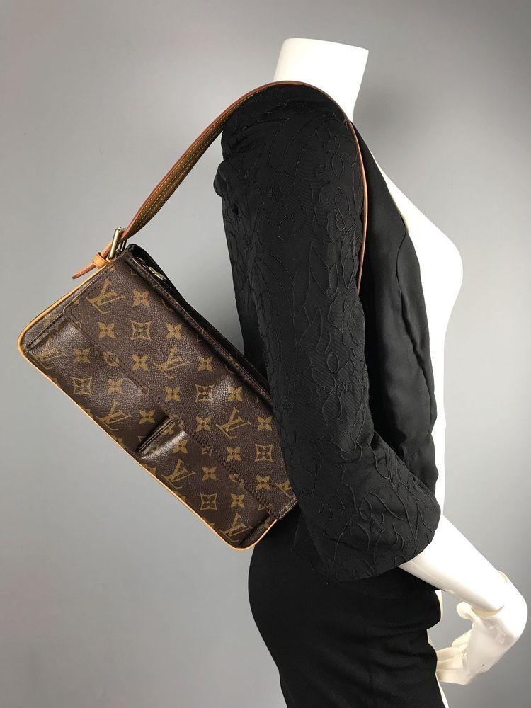 ce705859 llLOUIS VUITTON Monogram Canvas Leather Viva Cite MM Satchel ...