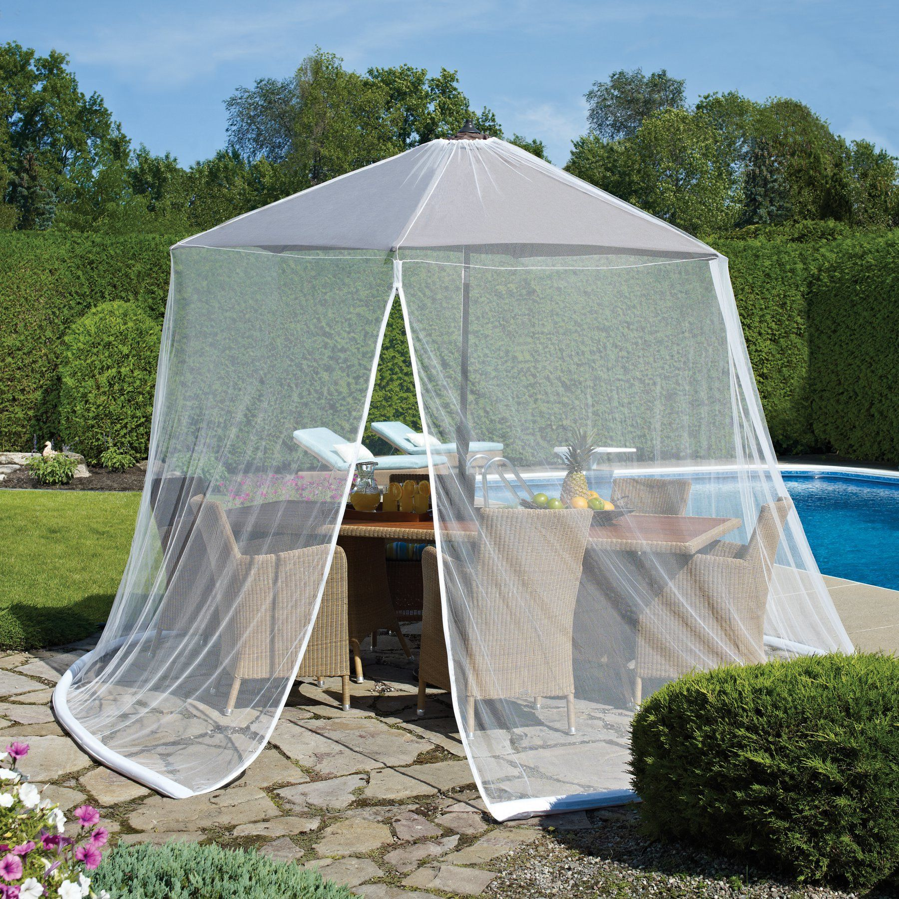 Outdoor Decor 11 Ft Scram Adjustable Mosquito Netting Outdoor Decor Canopy Outdoor Outdoor Umbrella