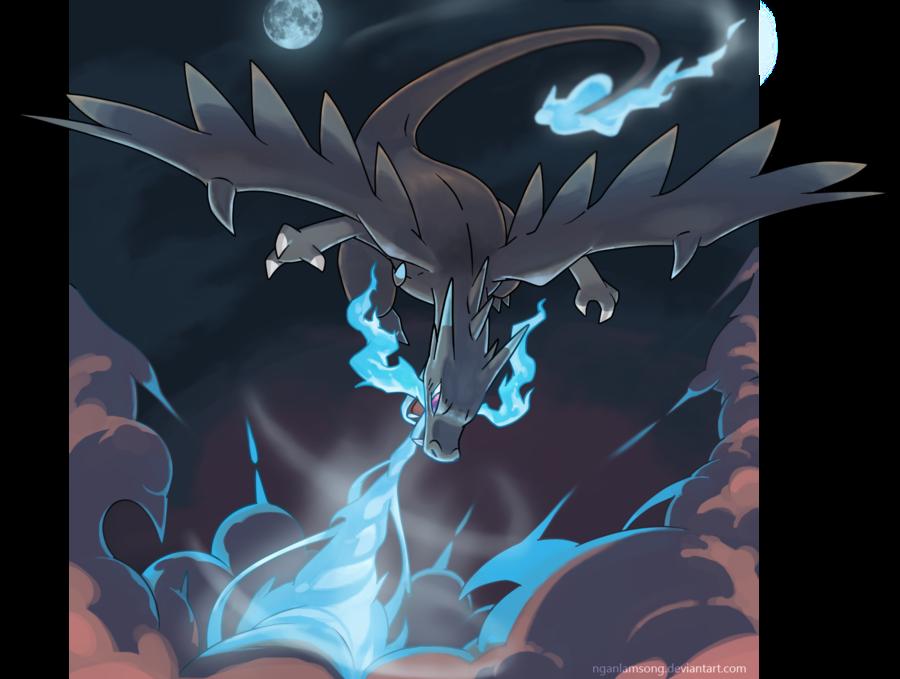 Mega Charizard X Power Of A Dragon By Nganlamsong