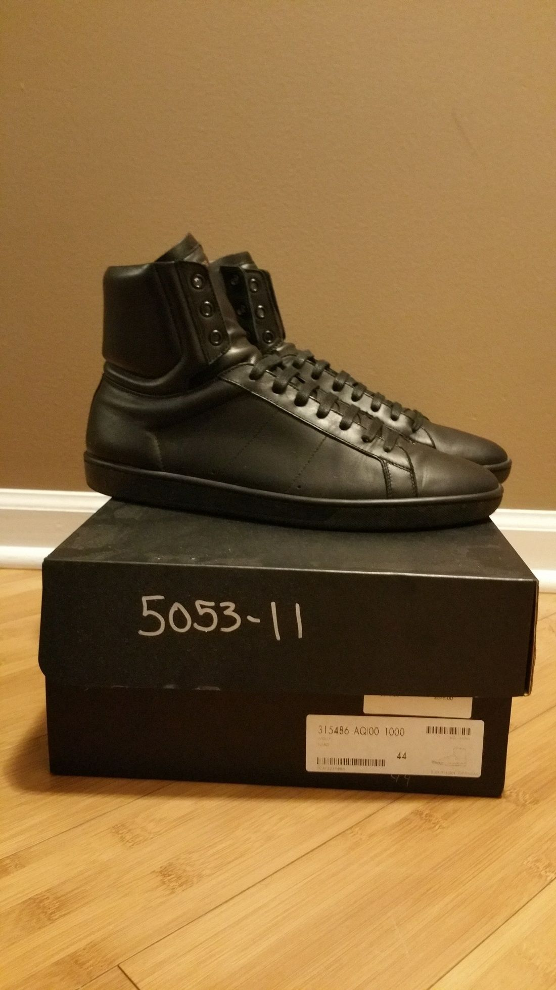 013484ff7135ac Saint Laurent Paris Saint Laurent Signature Court Classic Sl 01 H High Top  Sneaker In Black Leather Size 11  200 - Grailed