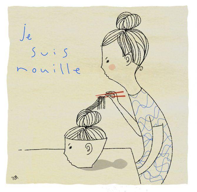 Illustrator Nathalie Dion / Je suis nouille