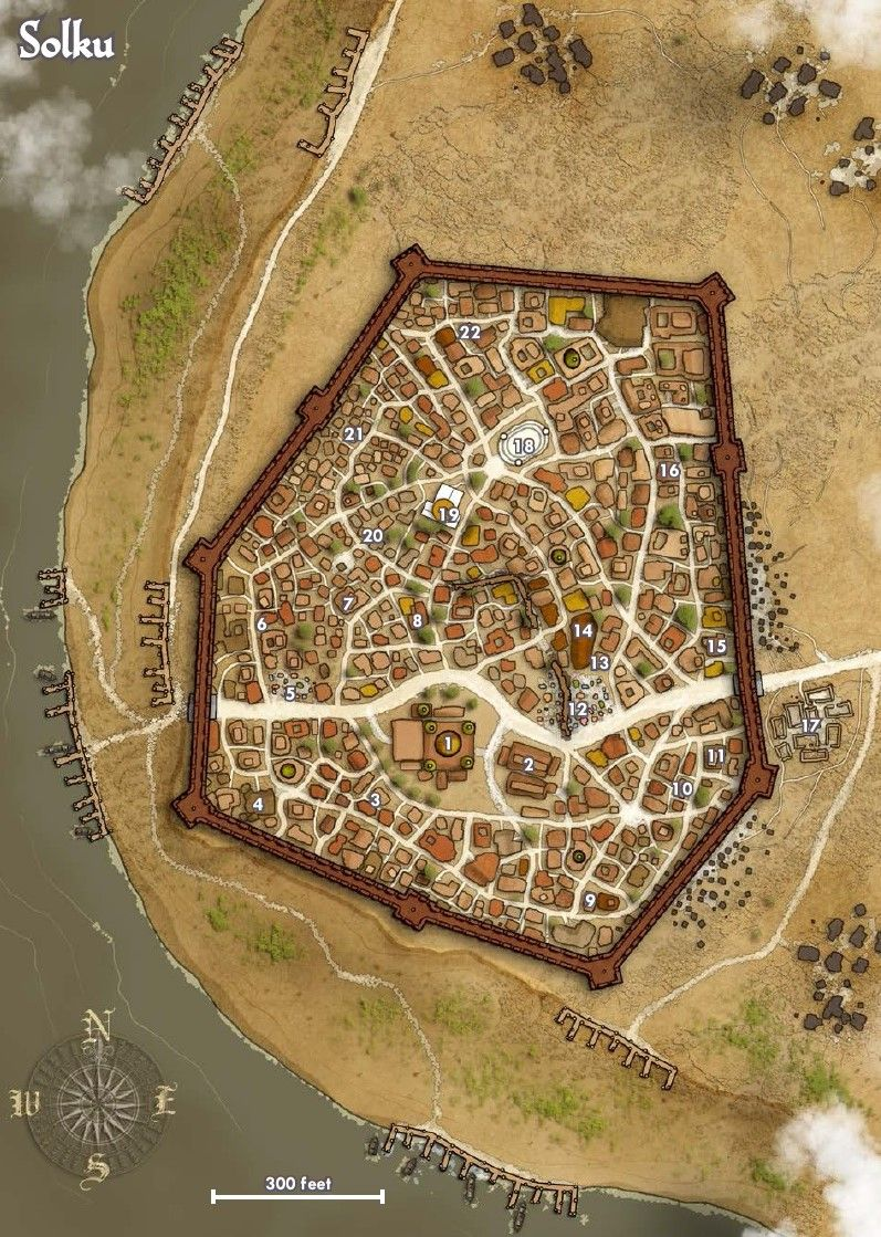 Map Of The City Of Solku   Pathfinder   Golarion