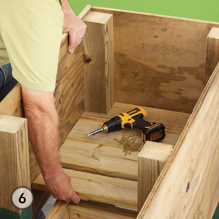 Fit The Slats Around The Legs And Secure With Screws.