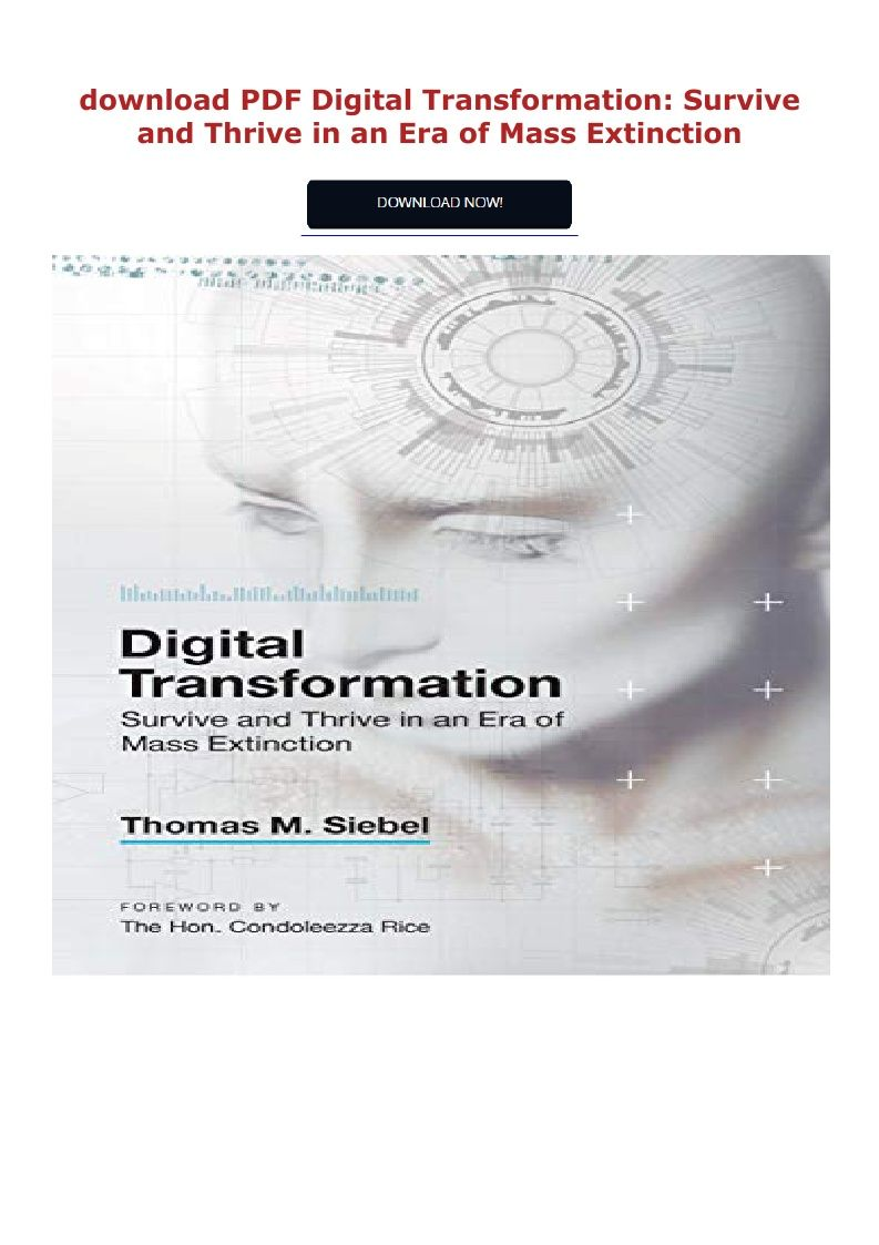 Pdf Download Digital Transformation Survive And Thrive In An Era