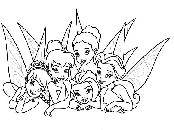 Disney Fairies Coloring Pages 10 600x447