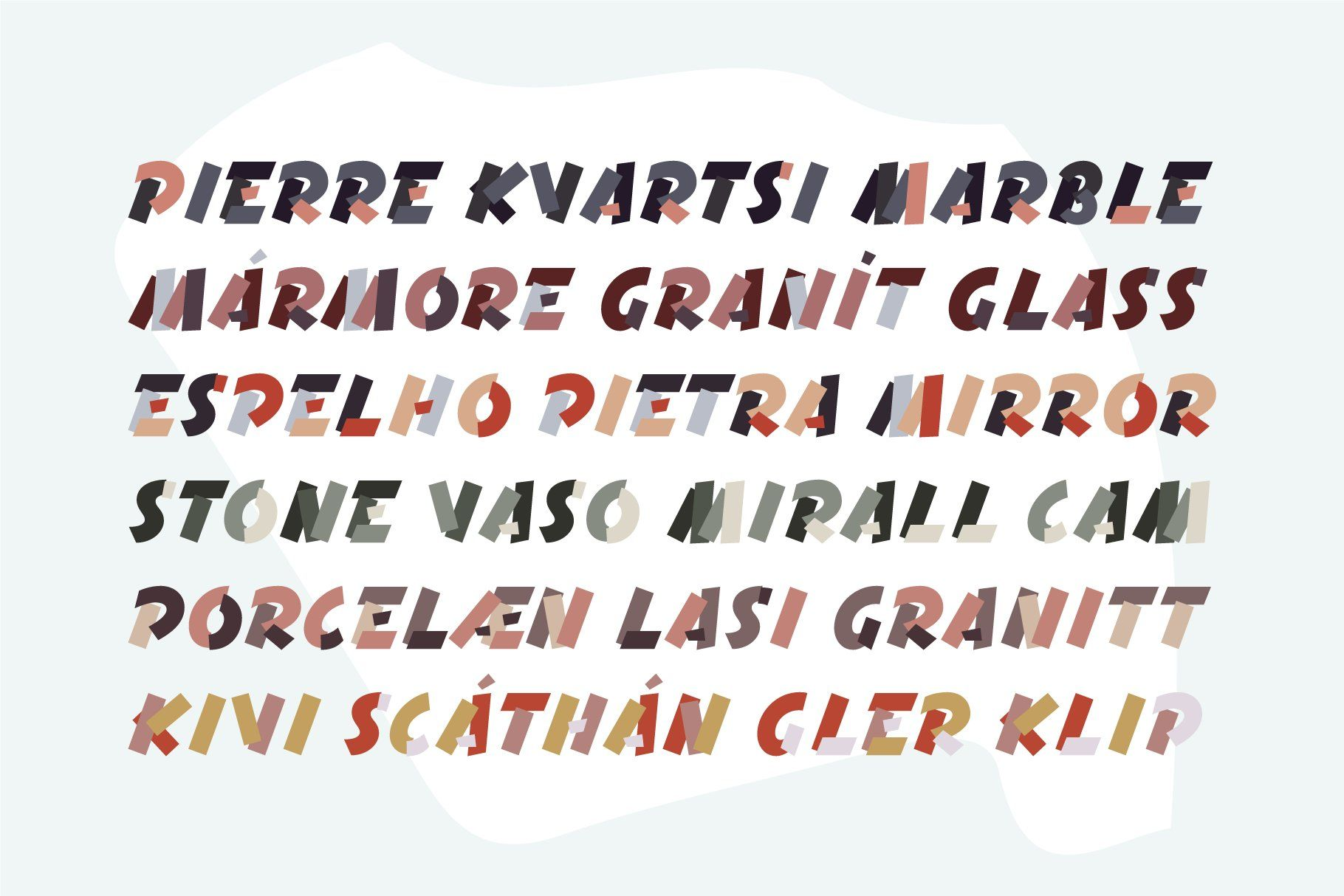 Terrazzo Color Font Family Font family, All caps font