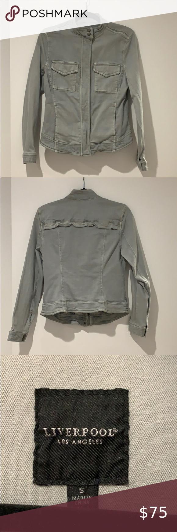 Liverpool Jeans Small Denim Jacket Liverpool Jeans Light Blue Denim Denim Jacket [ 1740 x 580 Pixel ]