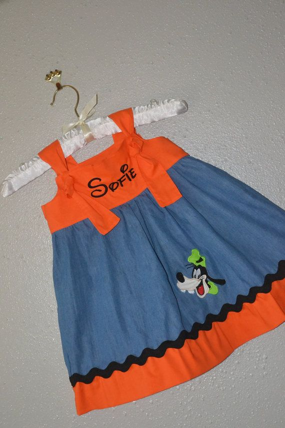Girls Goofy Knot dress Disney by BoogerbearPunkinpooh on Etsy